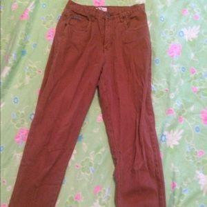 High waist brown jeans